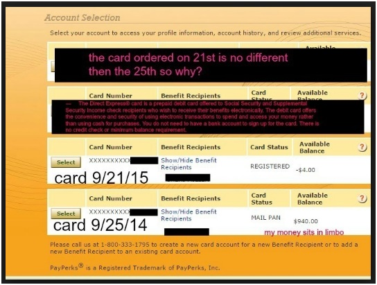 US Direct Express Balance -3